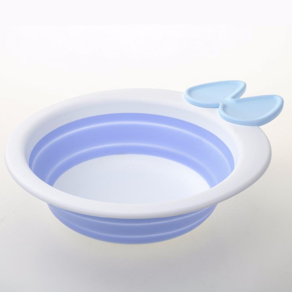 Купить с кэшбэком Baby Bath Tub Shower Bathtub Folding Cartoon Foldable Plastic Bathing Tub Bath For Children'S Kids Bather Bathtub Baby Outdoor