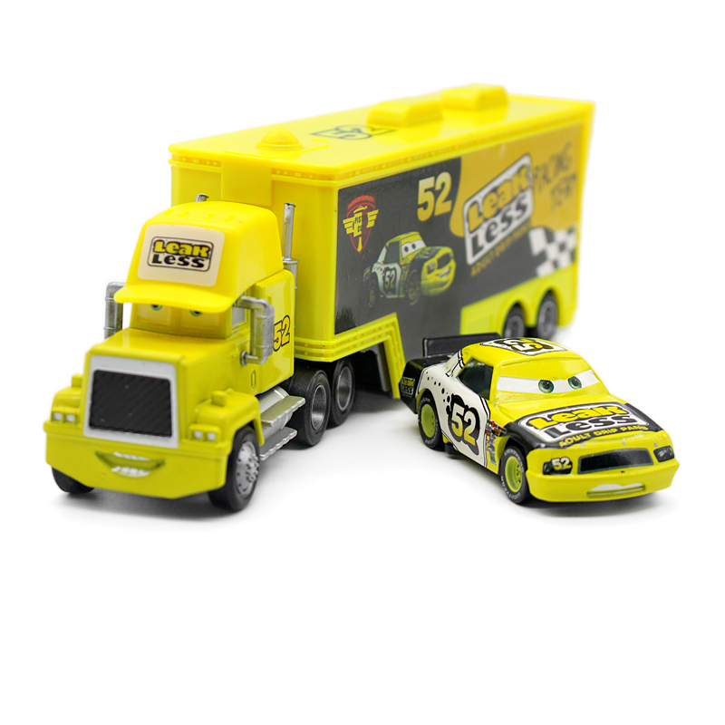 Pixar Cars  2Pcs/Set No.52 Mark Truck&Small Car 1:55 Scale Diecast Metal Alloy Cute Toys For Children Gifts Anime Toys Car Model