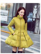 women jacket women winter coat New winter collar white duck down jacket coat thin models women free shipping