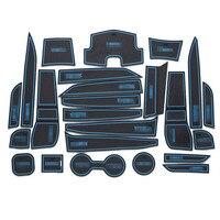 24 шт. Нескользящий Резиновый внутренний Автомобильный Дверной подлокотник для хранения  панельный коврик  держатель для чашки  слот  наклад...