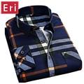 2017 Flannel Men Shirts Cotton Long Sleeve Plaid Brand New Mens Fashion Brushed Casual Slim Fit Social Shirt Cotton Chemise X331