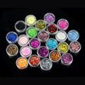Beauty Girl 24 Colors Spangle Glitter Nail Art Paillette Acrylic UV Powder Polish Tips Set Nov.10