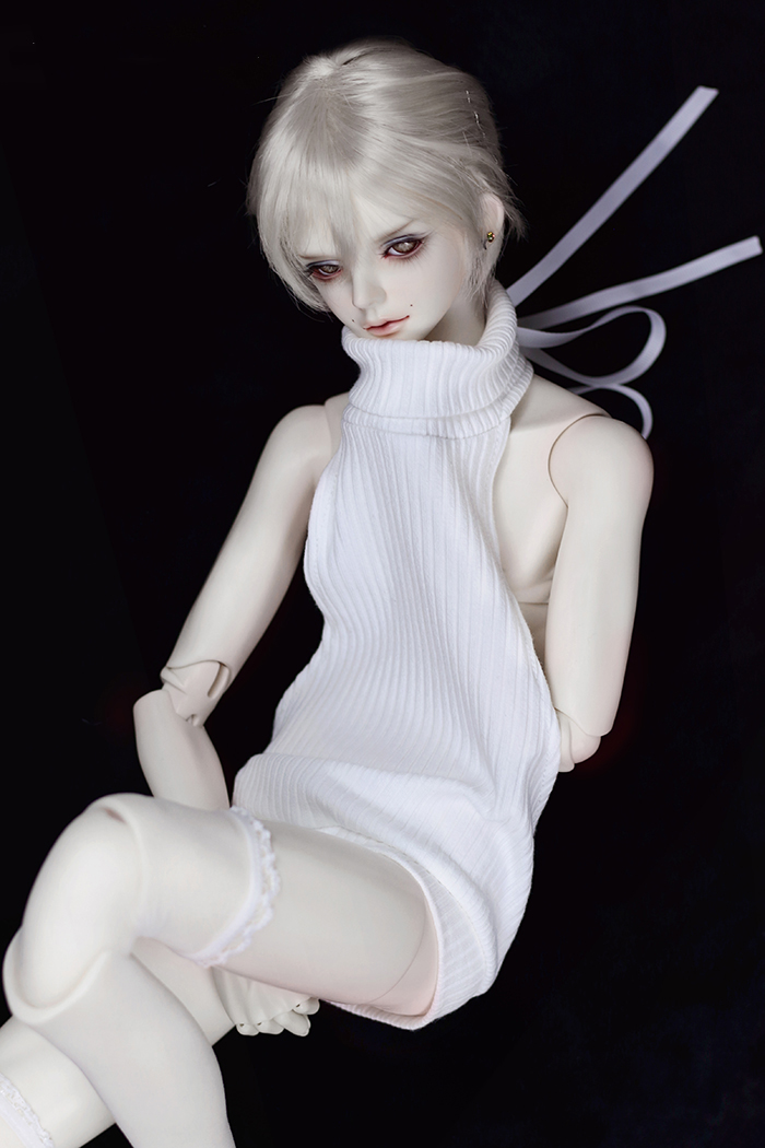 BJD clothes Turtleneck backless white sweater for 1//3 1//4 BJD DD doll accesories