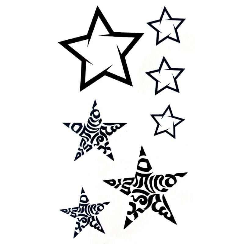 Flash Star Waterproof Temporary Tattoo Sticker For Men And Woman Henna Tatouage Glitter Tattoo Tatuagem Temporaria