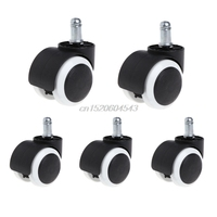 5 Pcs 2 Office Home Chair Swivel Casters Mute Wheel Universal Replacement R06 Drop Ship