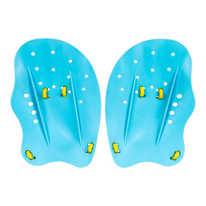 Pagaies de natation professionnel Silicone main aileron de plongée pagaie de natation pratique de la natation outils d'entraînement gants palmés à la main réglables