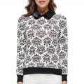Winter Autumn Women Sweater Casual Floral Slim Knitted Pullover Blusas Femininas