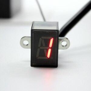 Image 2 - Nuoxintr 6 מהירות שחור אוניברסלי אופנוע דיגיטלי תצוגת Led מוטוקרוס מחוץ לכביש Moto אור ניטראלי הילוך מחוון צג