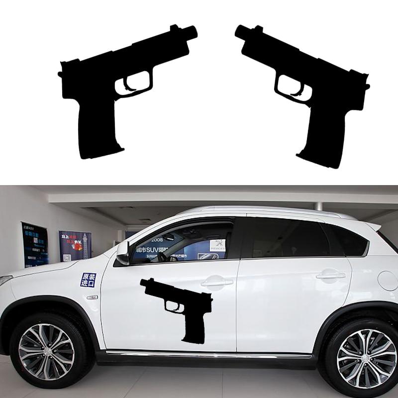 58cm x 40.47cm 2 x Tactical Handgun Pistol (one For Each Side)Car Sticker For Truck Side Window,Auto Door Vinyl Decal 8 Colors sunshade sun block for car side window black 65 x 38cm