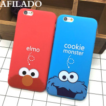 Fashion Cute Cartoon Cookie Elmo Soft TPU Slim Back Covers for IPhone 6 6s 5 5s