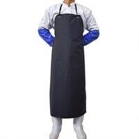 Imperméable PVC Tablier Hommes Femmes Anti-Huile Tablier Boucher Tablier de Cuisine Chef Vêtements De Travail Bib Outils De Nettoyage de Ménage