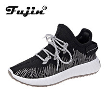 Fujin Flying Woven Sneakers Dropshipping Female Korean Version of Socks Shoes 2019 Summer New Flat Student Leisure Mesh