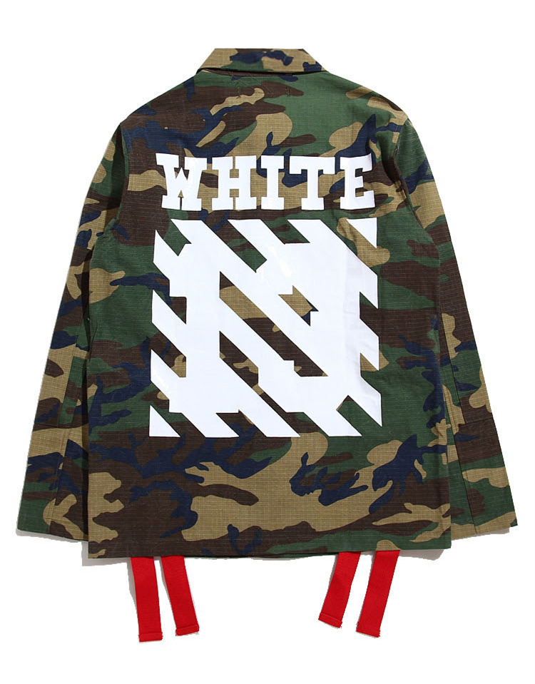 b3f727d3 Off White Virgil Abloh Camouflage hiphop Trench Jacket Pyrex kanye west men  Jacket Camo Clothes Jacket Military Uniform Jackets-in Jackets from Men's  ...