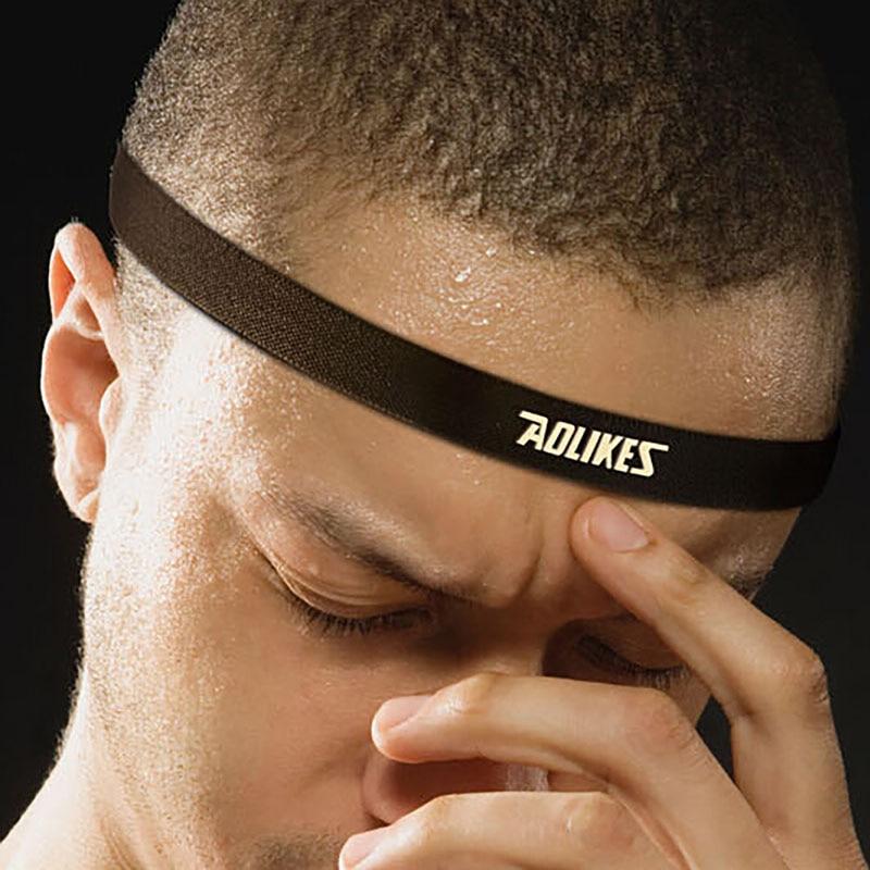 2018 Women Men Anti-slip Elastic Yoga Hair Bands Sports Headband Sweatband Football Yoga ...