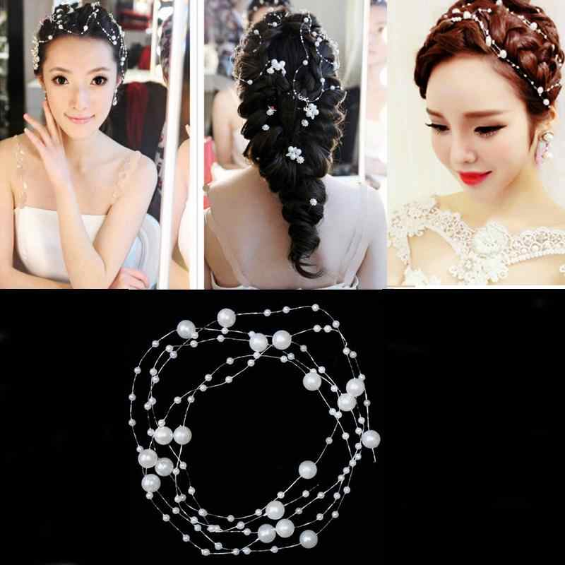 Hair Accessories Wedding Decoration Hair Bridal Accessories Hairpin White Pearl Studded Party Bride Headpiece Headdress Ornament