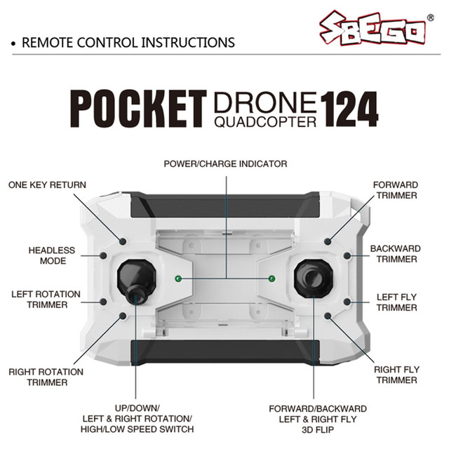 sbego pocket drone 124 instructions