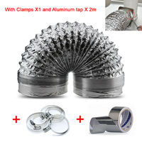 100mm X5m Length Exhaust Air Soft Tube 4 Inch Aluminum Tube 5 Meters Length Ventilation Pipe