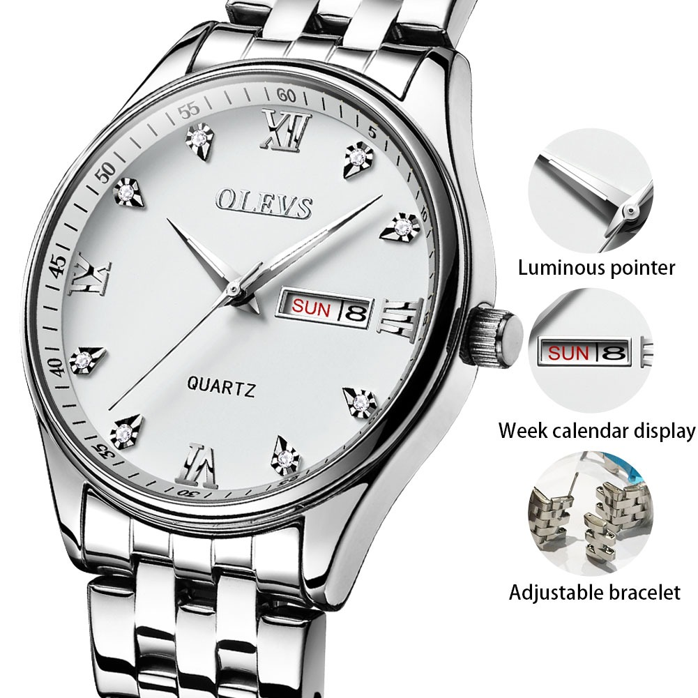 31a66d465e3c Relojes para hombre reloj de los hombres de OLEVS superior de la marca de  lujo de