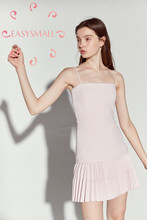 EASYSMALL ZIMMER Frauen kleid Mode Sexy vintage rosa kleid Sommerkleid Sommer exklusiven high-end Schlank engen Casual Hohe taille