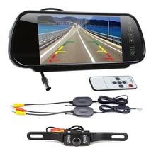 Cls 7″ LCD Screen Car Rear View Backup Mirror Monitor+Wireless Reverse IR Camera Kit Aug 12