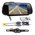 """Cls 7 """"Tela LCD de Visão Traseira Do Carro De Backup Espelho Monitor + Wireless Câmera Reversa IR Kit De Agosto De 12"""