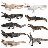 Горячая Милая мягкая резиновая Имитация животных Дикая модель крокодила игрушки для мальчиков разнообразие один кусок рождественские под...