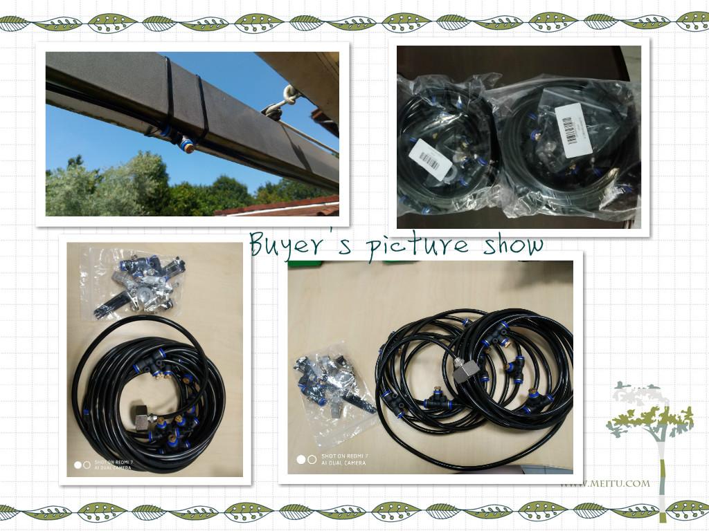 HTB1zVNAXVT7gK0jSZFpq6yTkpXam - Water Misting Cooling System Kit summer Sprinkler brass Nozzle Outdoor Garden