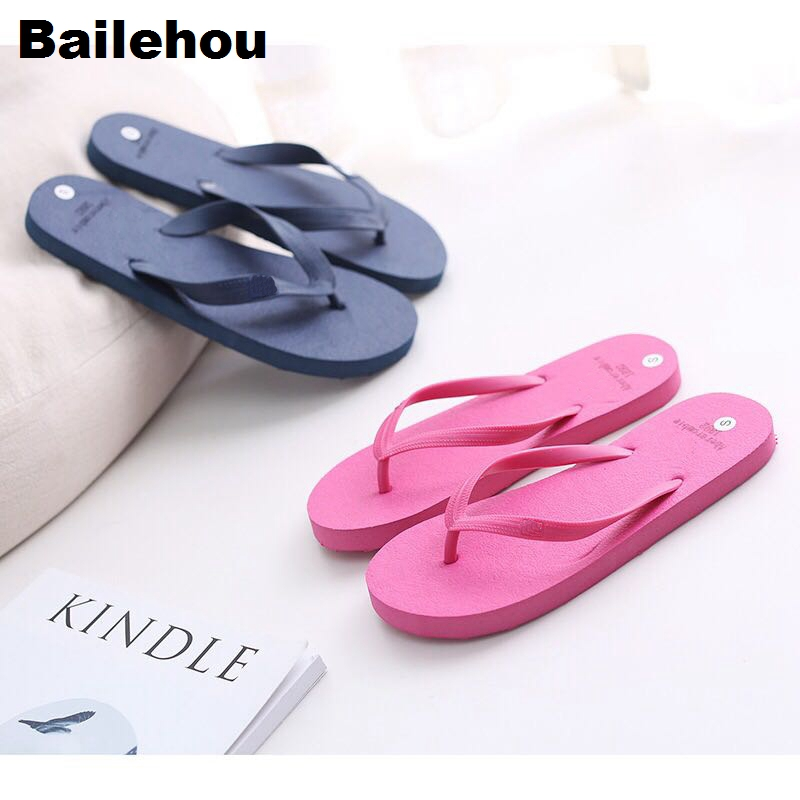 Bailehou Women Slippers Beach Flip Flops Sandals Slip On Slides Indoor Home Slipper Women Flat Casual Shoes Female Drop Shipping bailehou fashion women slippers crytal flip flops sandals slip on slides beach slipper flat casual shoes diamond bohemian shoes