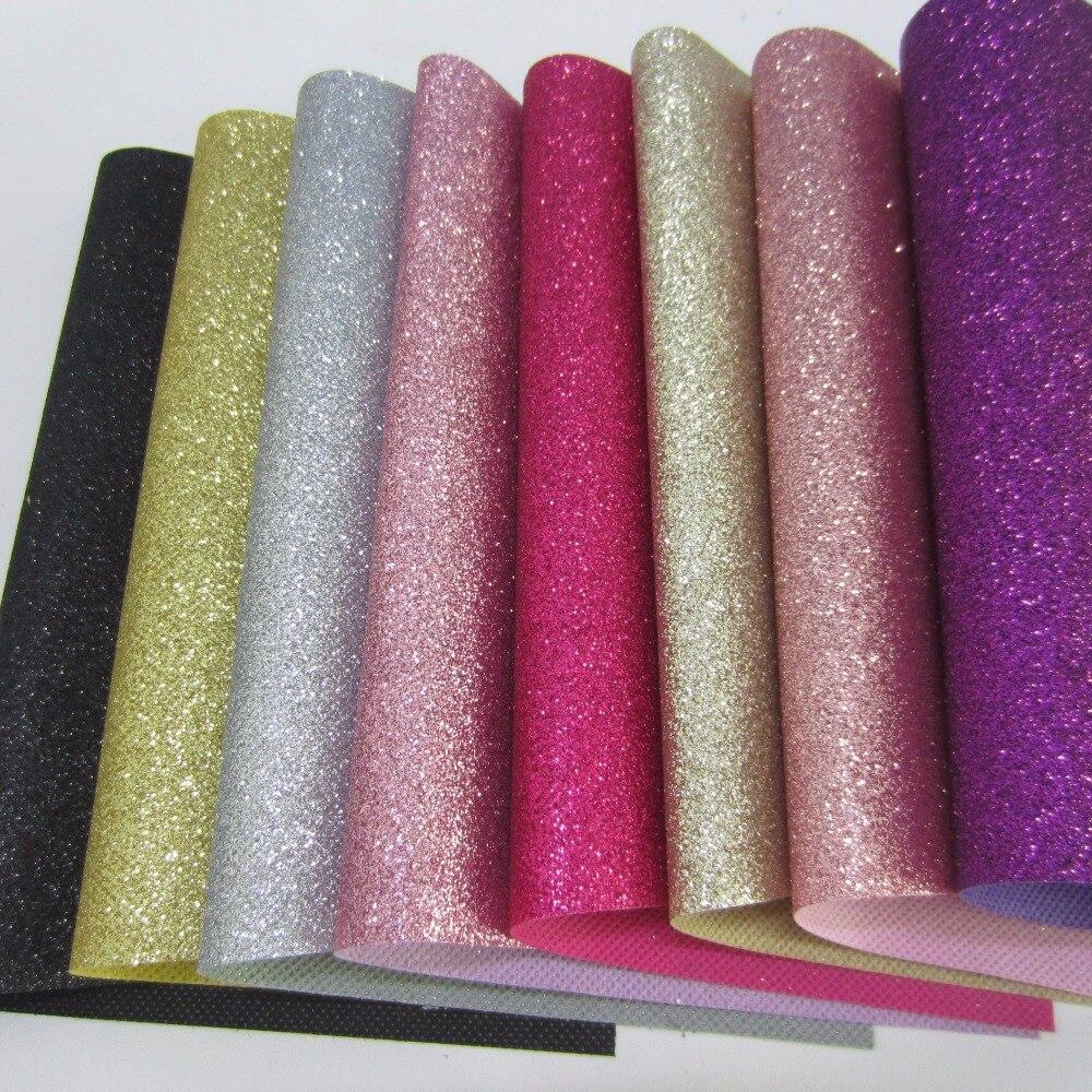 À motifs paillettes tissu feuille A4 30cm x 21 cm