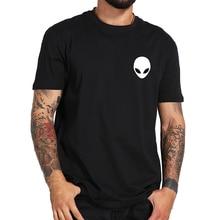 100% Cotton Alien T Shirt Short Sleeve Casual O Neck Men Tshirt Black High Quality Summer Soft T-shirt Male Tops Tee  harajuku