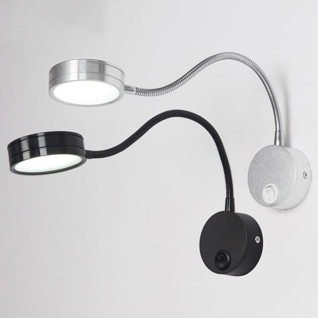 wiring flexible 3w gooseneck led wall light lamp lighting for rh aliexpress com Vintage Bedroom Wall Lights Bedside Wall Lights