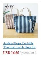 isolado multifuncional sacos de comida piquenique almoço saco para homens