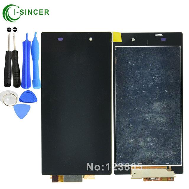 1/pcs l39h negro pantalla lcd táctil digitalizador asamblea para sony xperia z1 l39h c6902 c6903, envío libre