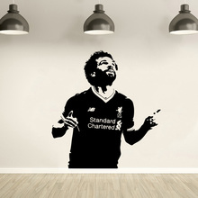 Wall Decal Mohamed Salah Footballer Vinyl Sticker Mural Liverpool Soccer Wallpaper Home Decor Bedroom Art Poster AY1772
