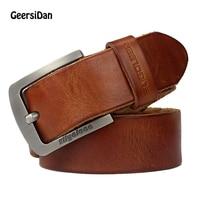 GEERSIDAN Men Belt Luxury Famous Brand Designer High Quality Genuine Leather Belt Strap Male Vintage Wide