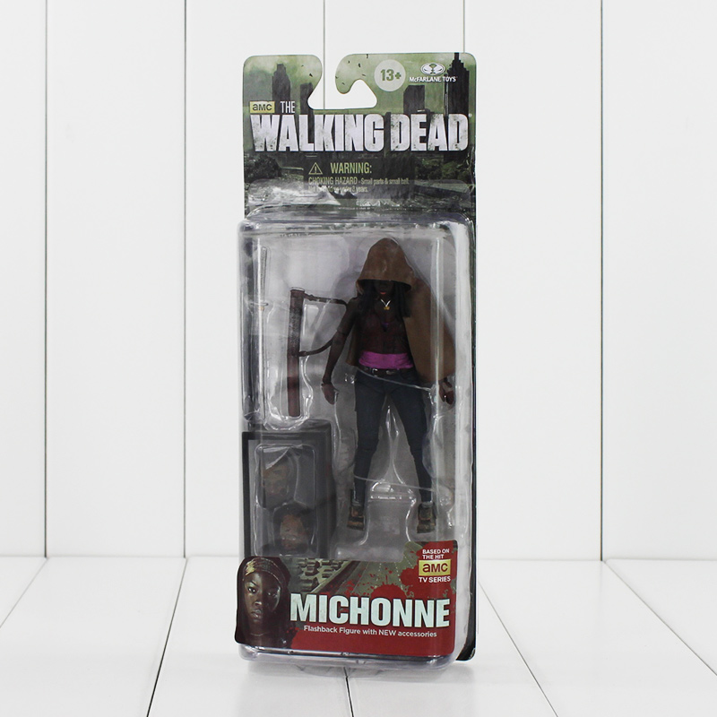 5 12cm NECA The Walking Dead Michonne Knife Figure Toy AMC TV Series PVC Action Figurine Model Collectible Gifts for KIds neca planet of the apes george taylor clothed pvc action figure collection model toy 8 20cm