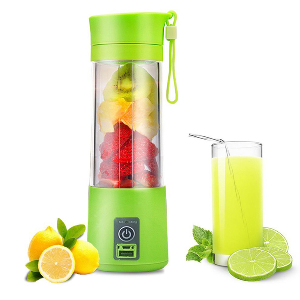 3 Colors 380ml Portable USB Juicer Cup Juice Blender Fruit Vegetable Tools Kitchen Accessories For Outdoor Travel Supplies