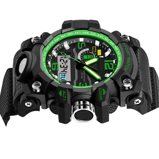 Sports Digital Leisure Watches Automatic waterproof Fashion Watch top quality clock army wristwatch military S-Shock chronograph
