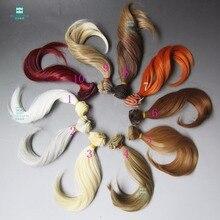 15cm*100CM  Doll accessories wig Big bend wave curls For 1/3 1/4 1/6 BJD/SD DIY doll wig
