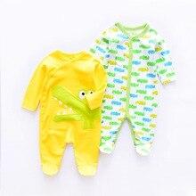 2020 Fashion animal style Cotton Babies Bodysuit Boys Jumpsuits newborn infant clothes long sleeve baby Jumpsuit 2Pieces/lot