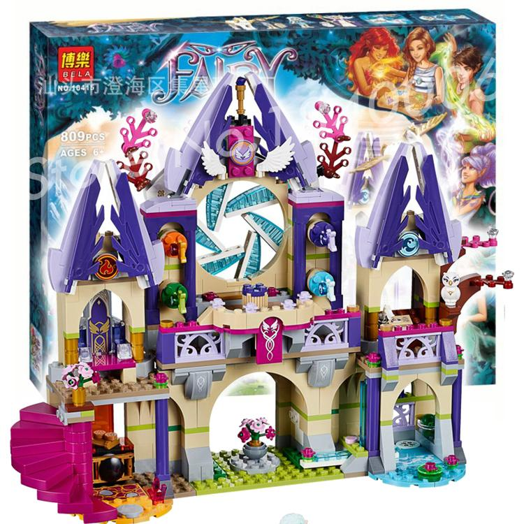 ФОТО 809pcs Bela 10415 Elves Skyra's Mysterious Sky Castle Building Fairy Tale Lovely Girls Toys Bricks Compatible With Lego