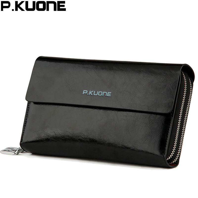 men s wallet Clutch Bag Long Genuine Leather handbags men s wallet Double Layer Business purse