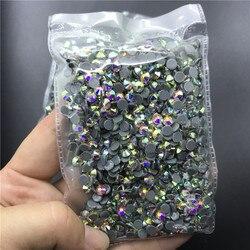 TopStone fer à repasser sur Strass cristal clair AB couleur Super brillant verre Strass pierres pour bricolage tissu vêtement