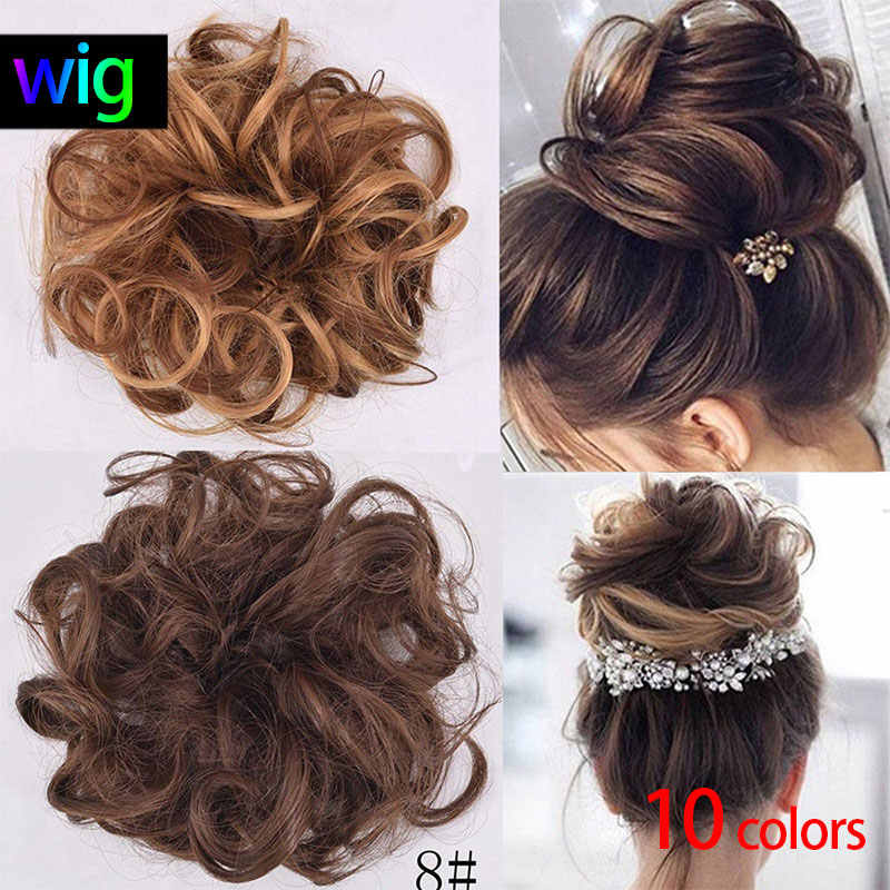 9f97a945c6 Fashion Hairpiece Hair Bun Ponytails 10 Colors Twirl Natural Chignon Lace  Wig Styling Accessories Hair Beauty