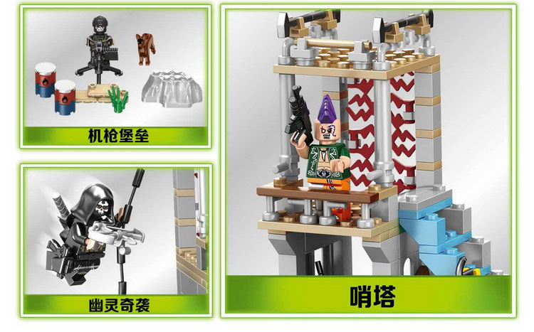 ФОТО 498pcs military swat counter-strike army  Ghost building blocks brick brinquedos juguetes educativos compatible with LEPIN