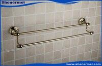 2015 Noble Style classique or Double barre porte - serviettes étagère de salle de bain accessoires