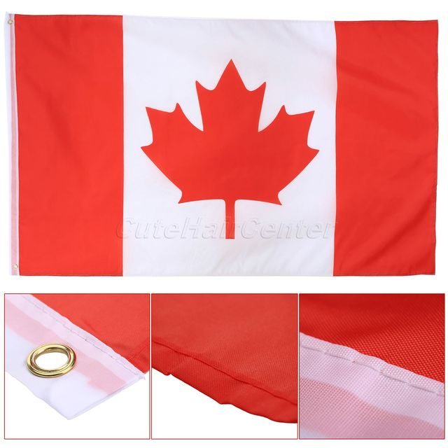 3x5 ft canadian flag polyester canada maple leaf banner indoor