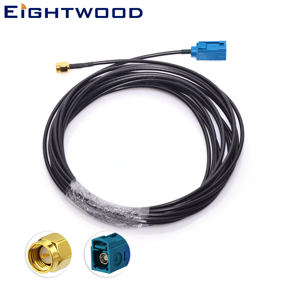 Eightwood Conversion DAB/DAB+ AM FM Car radio aerial Fakra to SMA adaptor cable for Alpine DAB European cars