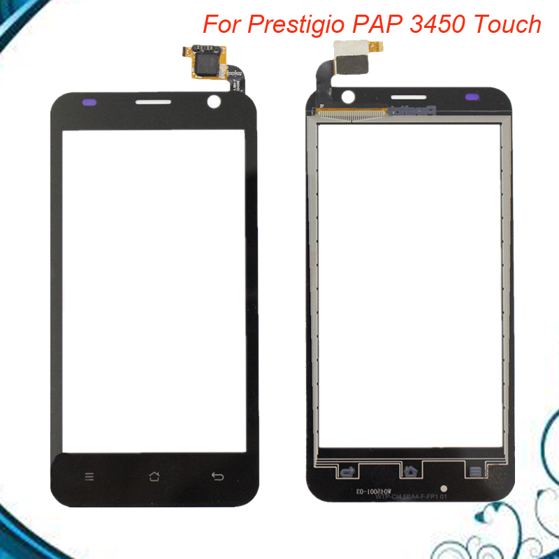 For Prestigio MultiPhone PAP 3450 PAP3450 Duo Smartphone Front Touch Glass Screen Digitizer Panel Lens Sensor free shipping