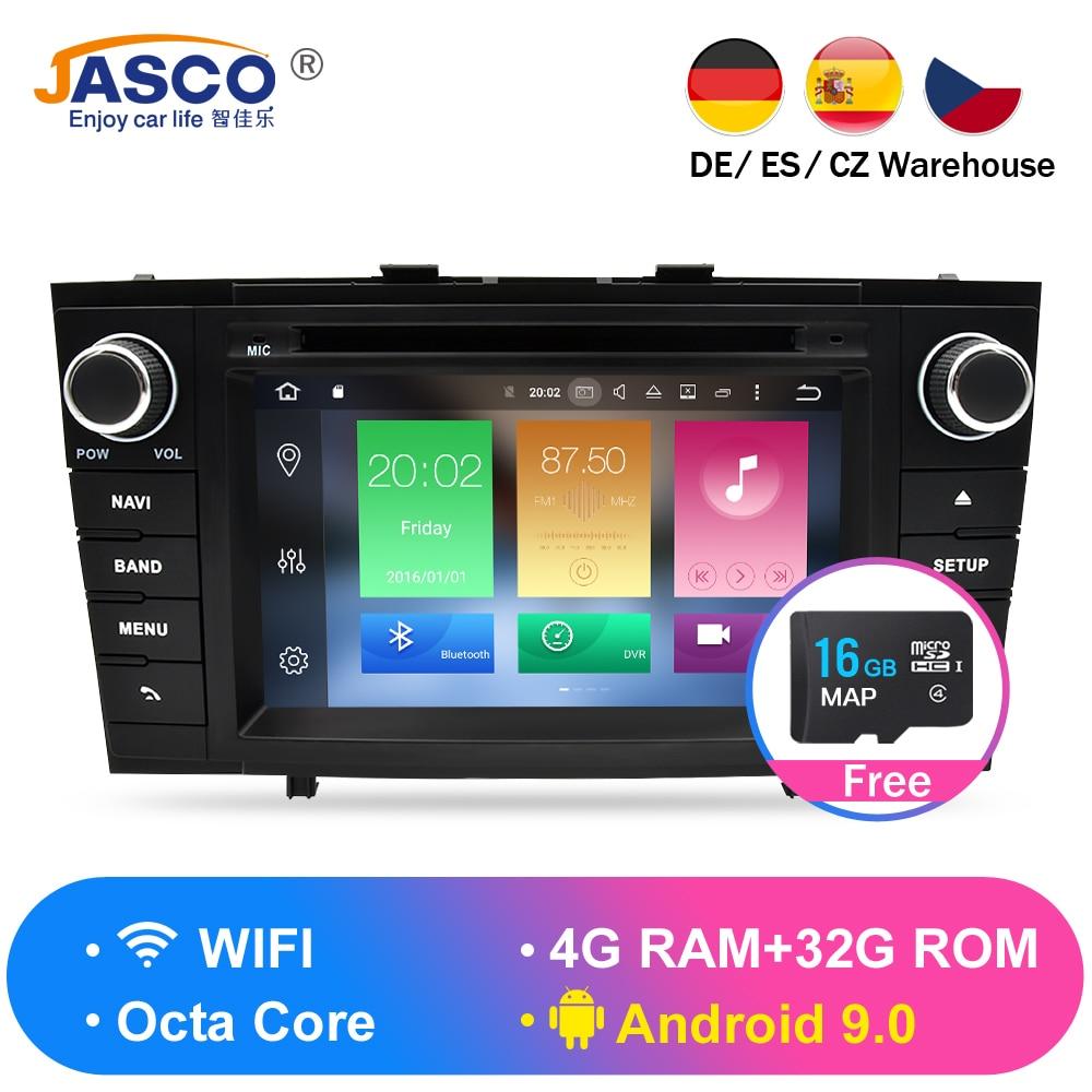 Android 9.0 Estéreo Do Carro DVD Multimedia Unidade Central Para. toyota Avensis T27 2009-2014 Auto PC Navegação GPS Rádio Vídeo Áudio 4G RAM